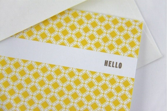 Geometric Everydays - Set of 6 cards\/envelopes (Multiple Greetings)