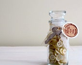 Decorative Vintage Spice Jar With 200 Mother of Pearl Buttons