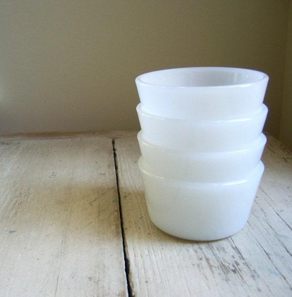 Vintage Glasbake Custard Cups - Set of 3
