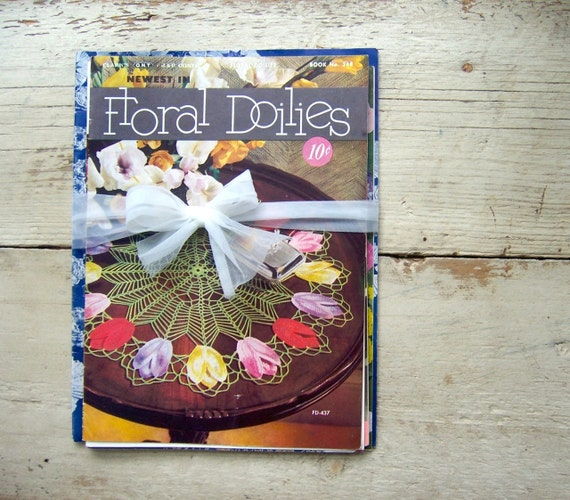 Assortment of 13 Vintage Crochet Booklets - Doilies 1940s-1950s - RESERVED