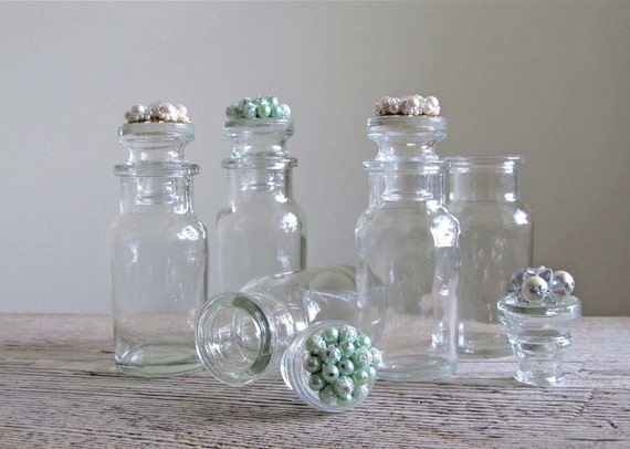 Repurposed Spice Jars Adorned With Vintage Cluster Earrings