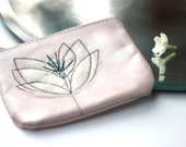 Peach Shimmer Leather Coin Purse
