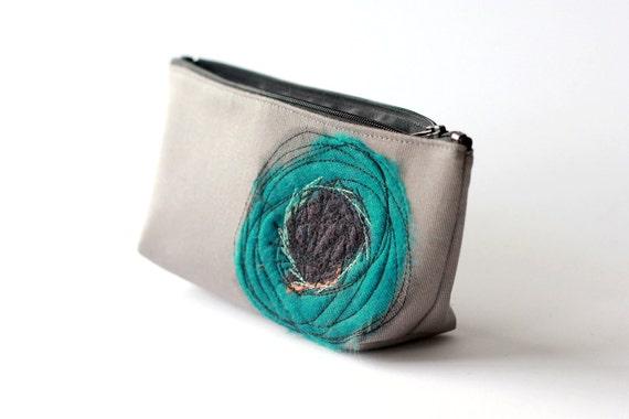 Ocean Blue Poppy Cosmetic Bag - Sale