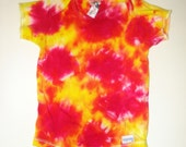 Tie Dyed Onesie yellow and red 3-6 month