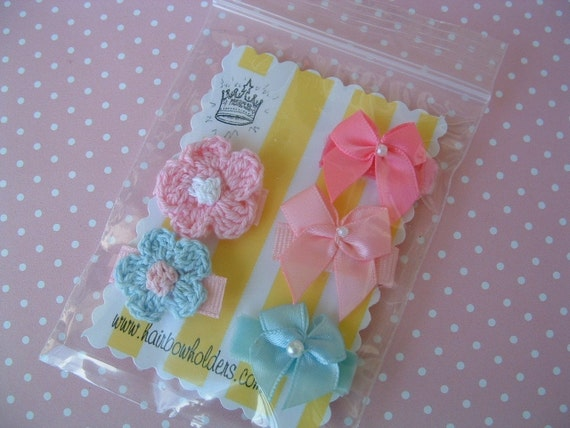 infant newborn velcro hair bows clips babys by hairbowholders