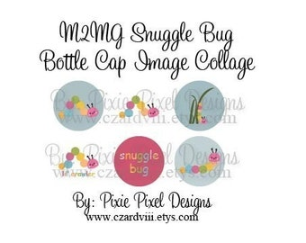 M2MG Snuggle Bug Collage 1 inch Bottle Cap Disc-Its Scrapbooking Boutique Digital Collage Art Sheet