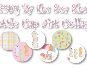M2MG By the Sea Bottle Cap Collage