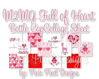 M2MG Full of heart Scrabble Tile Collage Sheet