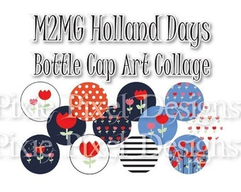 Holland Days M2MG Bottle Cap Collage Sheet