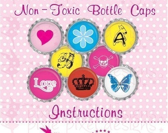 DIY  Make your own Non Toxic Bottle Cap Instructions Tutorial
