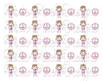 M2MG Super Star Print Your Own Ribbon Graphics