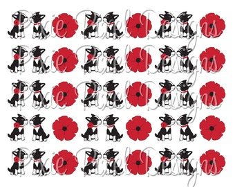 M2M Poppy Love Print Your Own Ribbon Graphics