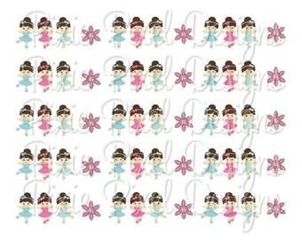 M2MG Winter Ballerina Print Your Own Ribbon Graphics