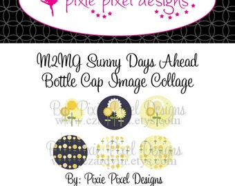 INSTANT DOWNLOAD - M2MG Sunny Day Ahead Bottle Cap Image Collage Sheet