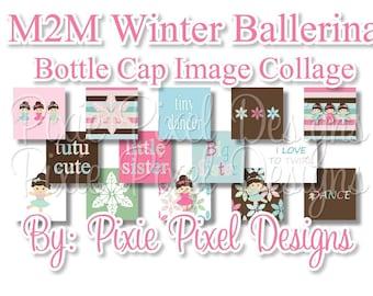M2MG Winter Ballerina Scrabble Tile Collage Sheet