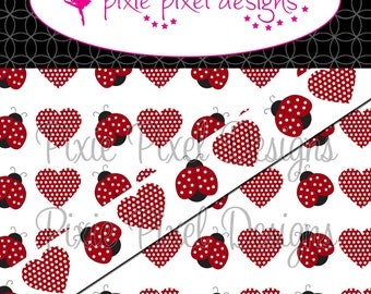M2MG Lady Love Bug Print Your Own Ribbon Graphics
