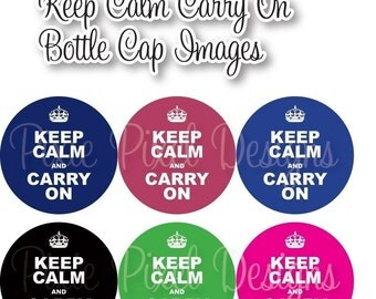 Keep Calm Carry on 1 inch Bottle Cap Disc-Its Scrapbooking Boutique Digital Collage Art Sheet