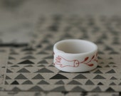 Capillary - Red - Porcelain Ring
