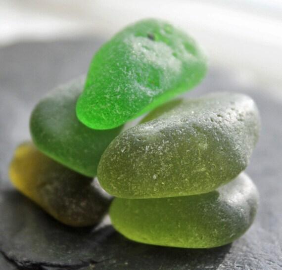 SALE Genuine Sea Glass Supply,  5 pcs