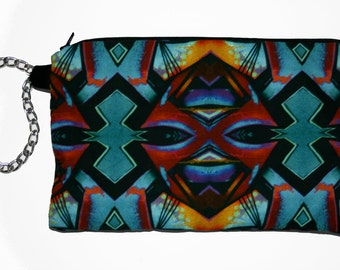 Aztec Print Tribal Clutch Purse