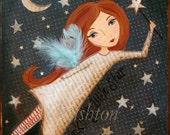 Kids Wall Art -Children's Art-Tooth Fairy Art Print 8 x 10 by HRushton