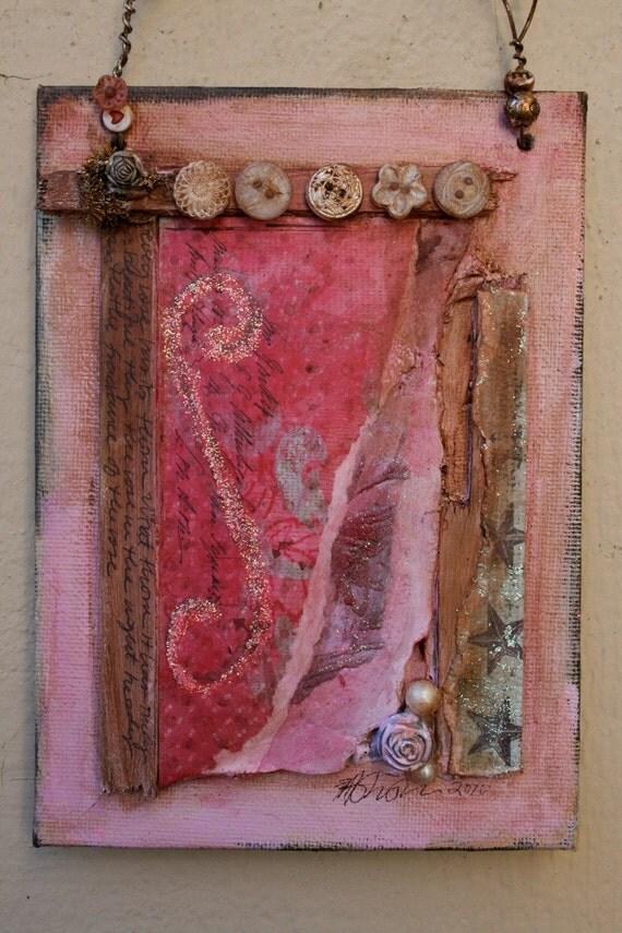 ROSE PATINA . original fine art mixed media