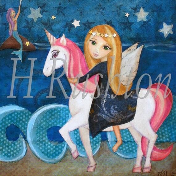 Fairy Unicorn Mermaid Girls Room