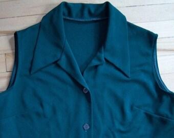 Green Polyester Vest