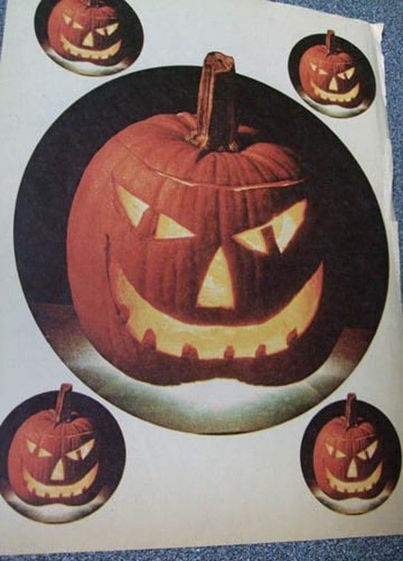 Vintage Iron-Ons - Halloween Jack O' Lantern Pumpkin