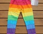 Organic Cotton Rainbow Leggings  size 7-8