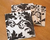 Coasters - Black and White Elegance - Set of 4