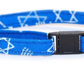 Hanukah Kitty Cat Collar