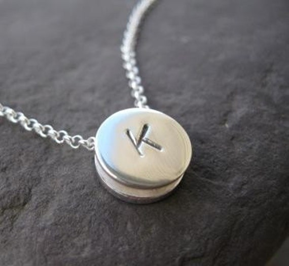 Initial Slider Sterling Silver Reversible Necklace . monogram necklace . both shiny and hammered textures . made to order
