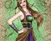 Steampunk Art Print - Constance - 8 x 10 Fantasy Art Print - by Nikki Burnette