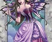 Fairy Art Print - Karmina - 8 x 10 Fantasy Art Print - by Nikki Burnette