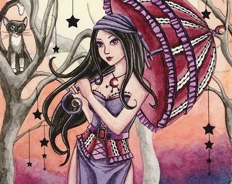 Witch Art Print - Stella - 8 x 10 Fantasy Art Print - by Nikki Burnette