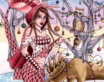 Mermaid Art Print - Shanna - 8 x 10 Fantasy Art Print - by Nikki Burnette