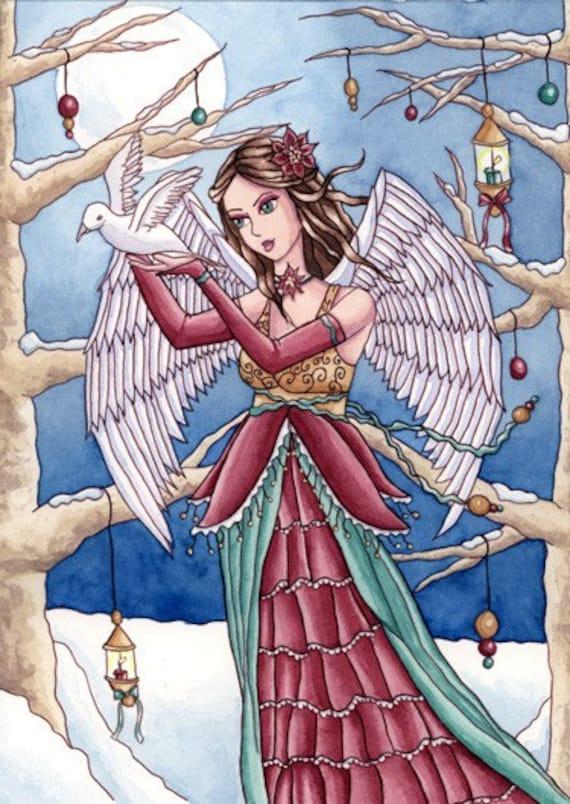 Neva - ACEO Fantasy Art Print - by Nikki Burnette
