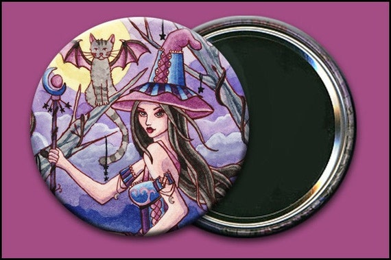 Calista 2 1/4 Pocket Mirror w/ Bag - by Nikki Burnette