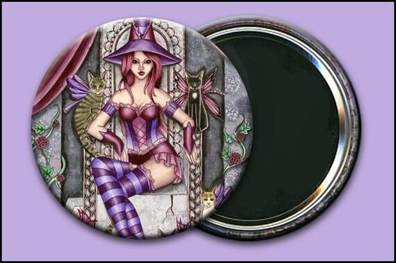 Heather 2 1/4 Pocket Mirror w/ Bag - by Nikki Burnette