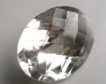 Green Amethyst - Gem, Oval, Checkerboard 18.65 cts - 15x23 (GA105)