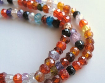 2mm Micro-Faceted Cubic Zirconia Rondelles - Unstrung - 170 beads