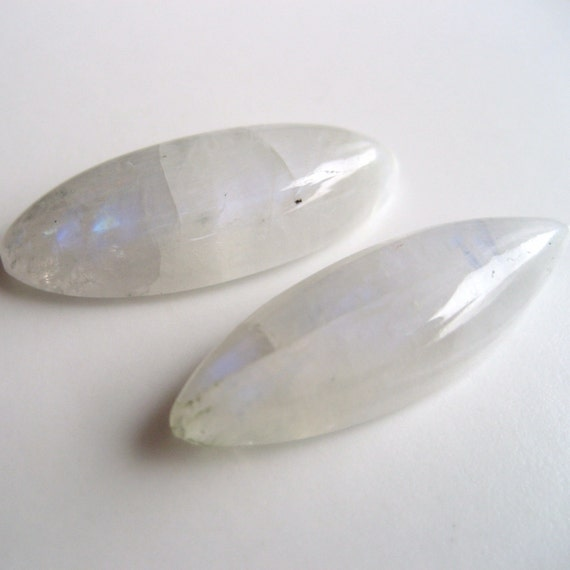 Rainbow Moonstone - Marquise Cabachons, Pair, 16.65 cts