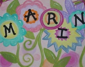 Custom Name Flowers Painting - Original 11x14