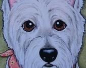Custom Pet Portrait Painting 9x12- Original made to order