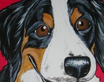 Pet Portrait Painting Custom 8x10 pet loss, pet memorial, pet lover gift
