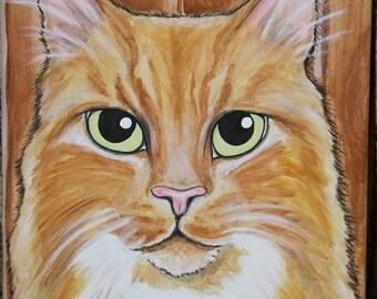 Pet Portrait Painting Custom 8x10 handpainted