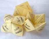 Cootie Catchers- Origami Wedding Favors- Set of  75