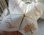 Cootie Catchers- Origami Wedding Programs- Set of 75 COLOR Ink