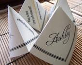 COOTIE CATCHER Origami Wedding Favor UNIQUE Fortune Teller 25